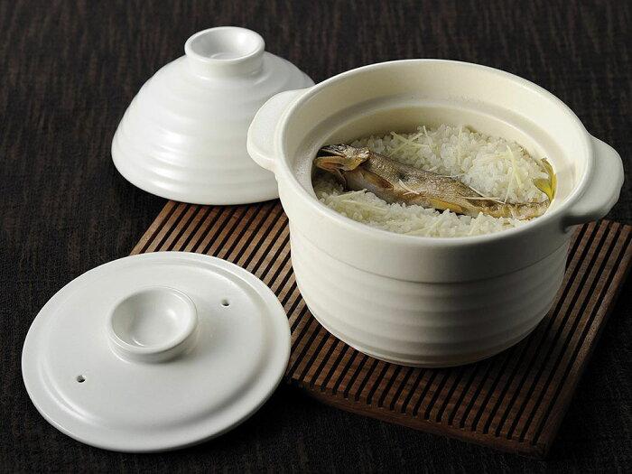 耐熱 3合炊き ホワイト