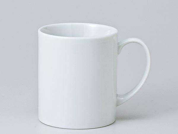 マグカップ おしゃれ/ 白エイトマグ /業務用 ホワイト シンプル コーヒー 名入れ オリジナル作成