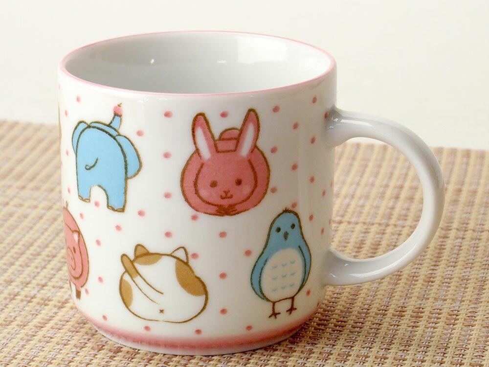 コーヒー カップ コップ/ 子ども用 女の子 アニマルフェイスマグカップ /業務用 家庭用 人気 ギフト 贈り物 子供 女の子 動物 おしゃれ かわいい インスタ