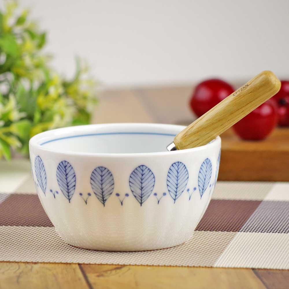 軽量 薄手 白磁 中鉢/ ハーブミント ボウル(中) 直径13.3cm /食洗機OK 電子レンジOK 家庭用 業務用 ナチュラル食器