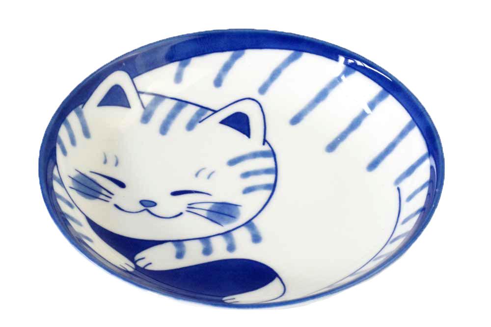 軽量 薄手 皿 20cm/ ねこちぐらトラ 6.0皿<6月10日頃頃 入荷予定> /猫 ネコ 可愛い 家庭用 和み 癒やし
