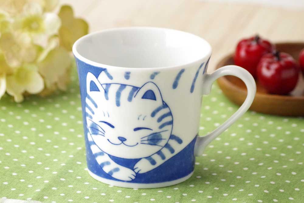 軽量 薄手 マグカップ/ ねこちぐら マグ 300cc トラ /猫 ネコ 可愛い 家庭用 和み 癒やし
