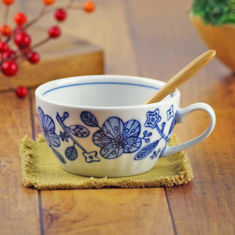 軽量 薄手 白磁 スープカップ/ ぽえむスープカップ /食洗機OK 電子レンジOK 家庭用 業務用 ナチュラル食器