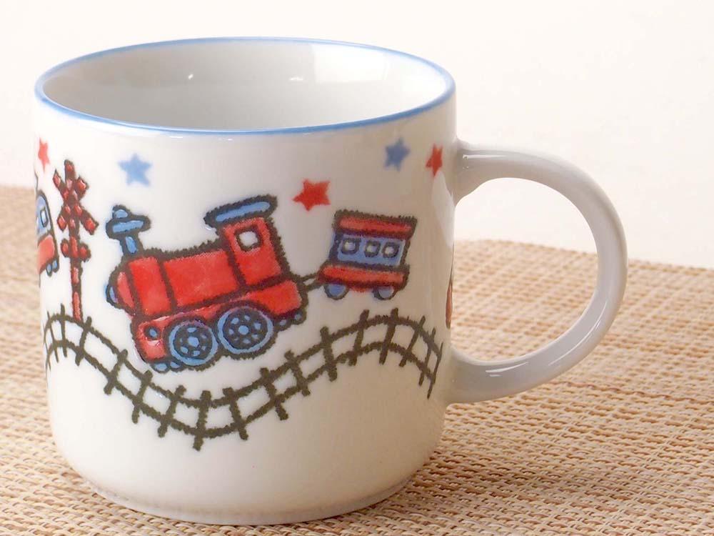 コーヒー カップ コップ/ 子ども用 男の子 電車マグカップ /業務用 家庭用 人気 ギフト 贈り物 子供 男の子 のりもの おしゃれ かわいい インスタ