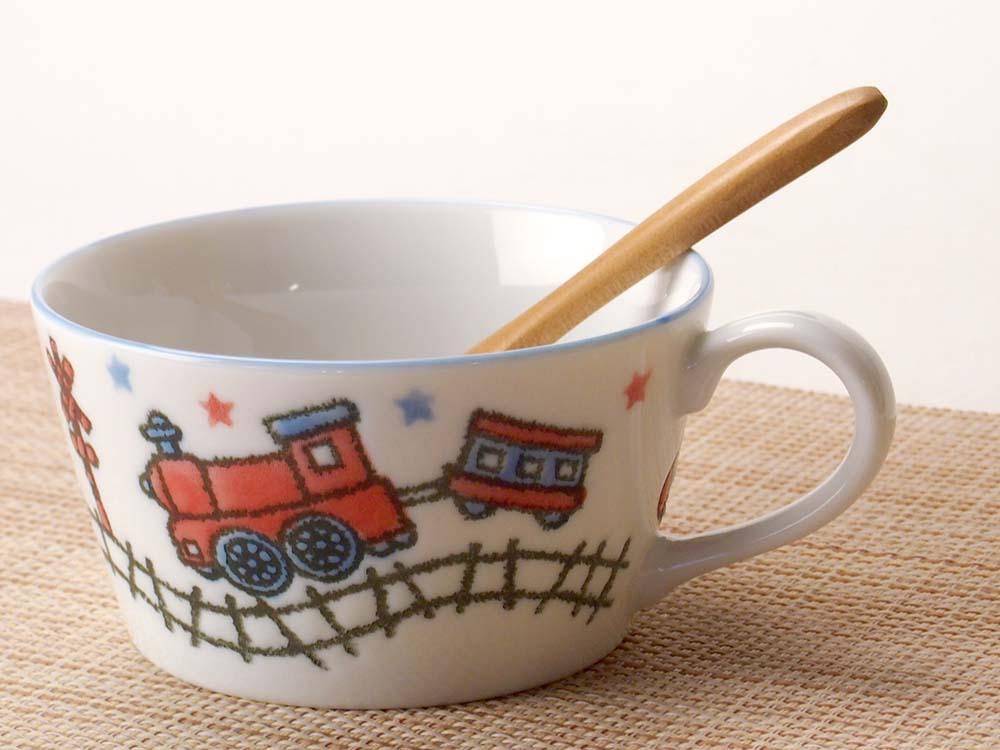 コーヒー ティー マグ/ 子ども用 男の子 電車スープカップ /業務用 家庭用 カフェ かわいい 子供 男の子 乗り物 のりもの