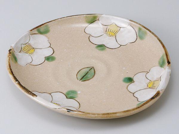 和食器 和皿 小皿 大皿 中皿/ 織部椿たわみ大皿 /おしゃれ 陶器 業務用 家庭用 Japanese Plate