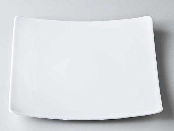 洋食器 モダン プレート/ アルファ25cm正角皿 /前菜 スクエアプレート 業務用 レストラン 高級