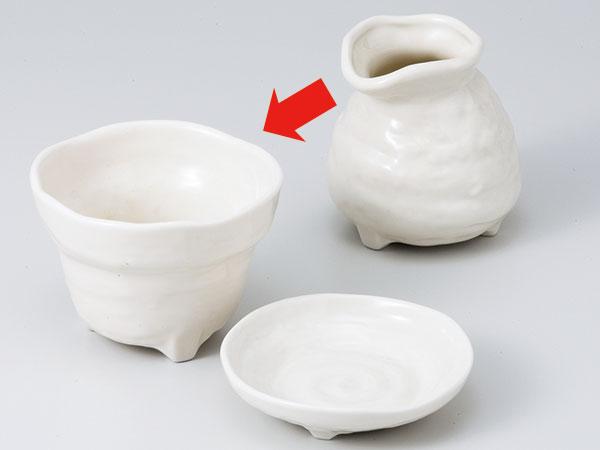 三つ足粉引そば小鉢