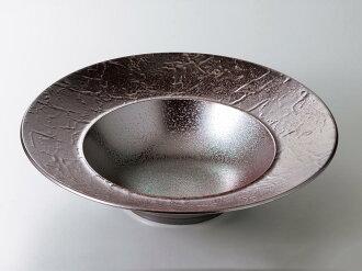 [西式餐具圓盤子湯盤]過分雕琢的式樣紅彩26.5cm深的湯