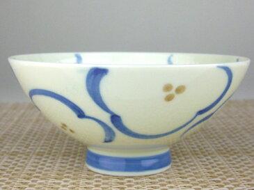 ごはんがつきにくい茶碗 梅の花 毛料(青)