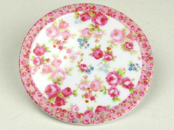丸型/ フラワーコースター(ローズ小花) /薔薇 ソーサー 受皿 トレイ キッチン雑貨 シンプル