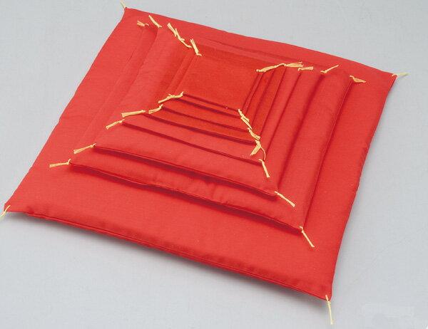 人形用 手作り/ 赤座布団13cm /手造り