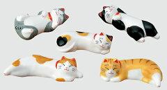 夏の風物詩 【なつかし屋】うたたね猫箸置きセット