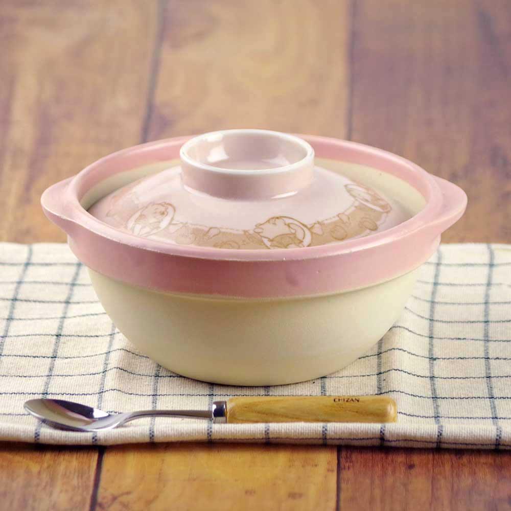 Disney ディズニー 一人用 ミニ土鍋 / くまのプーさん 1人用土鍋 /雑炊 おじや おかゆ 粥 温野菜 ダイエット うどん