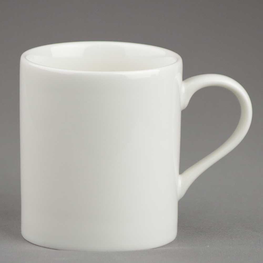 マグカップ コーヒーカップ シンプル/ アイボリー マグ 290cc /業務用 ポーセラーツ ポーセリンアート 素材 数量限定