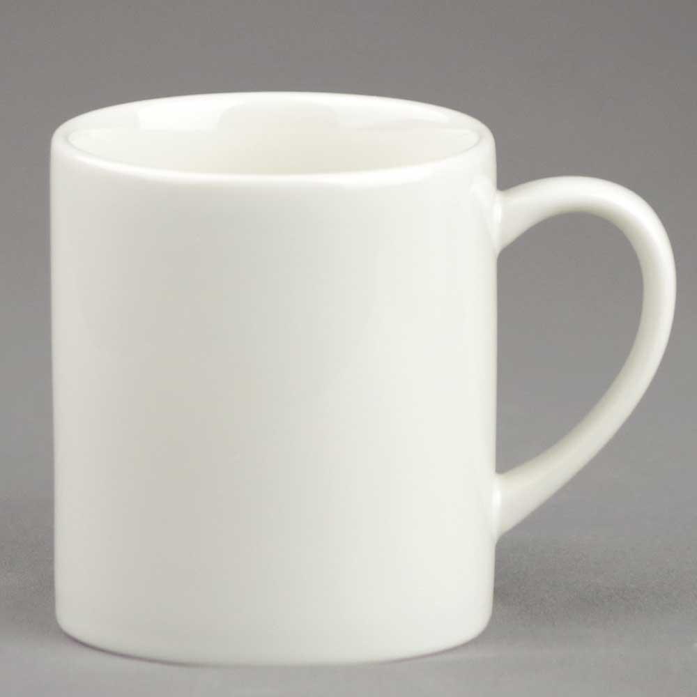 マグカップ コーヒーカップ シンプル/ アイボリーマグ 230cc /業務用 ポーセラーツ ポーセリンアート 素材 数量限定
