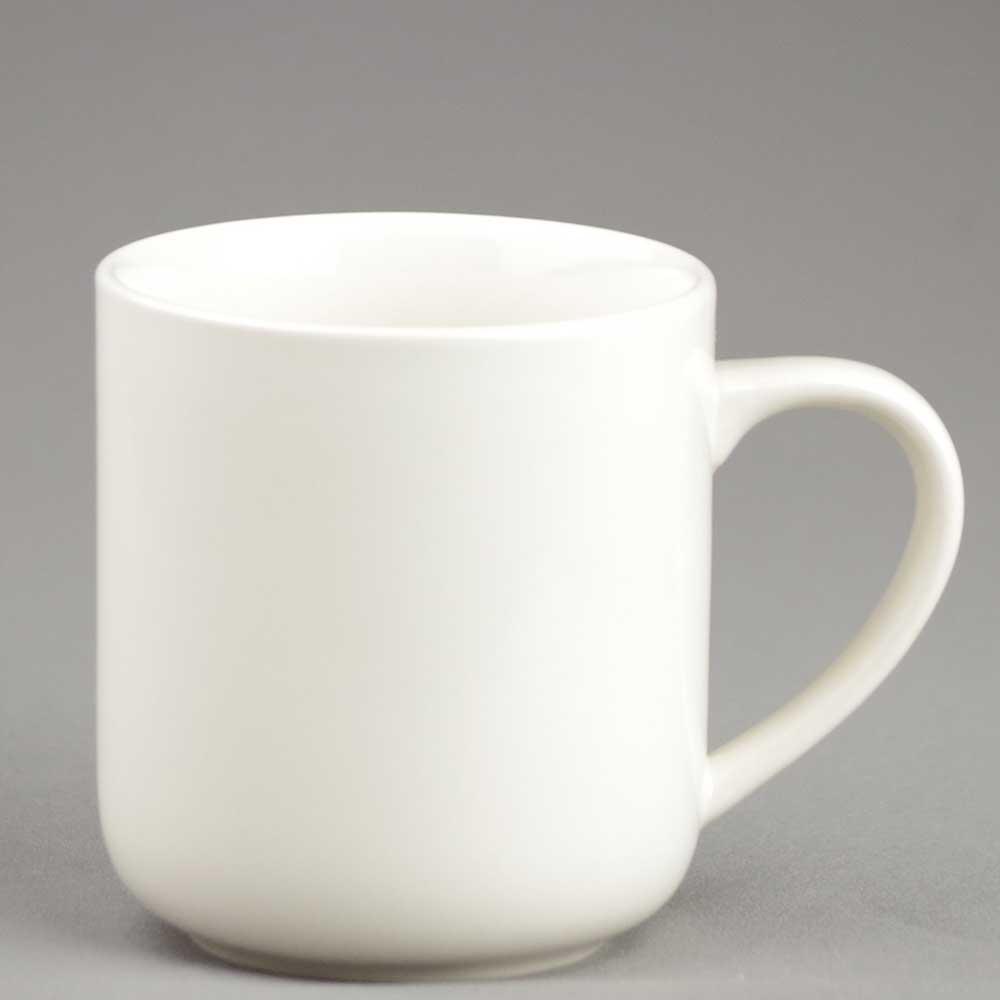 マグカップ コーヒーカップ シンプル/ アイボリー腰丸マグ 320cc /業務用 ポーセラーツ ポーセリンアート 素材 数量限定