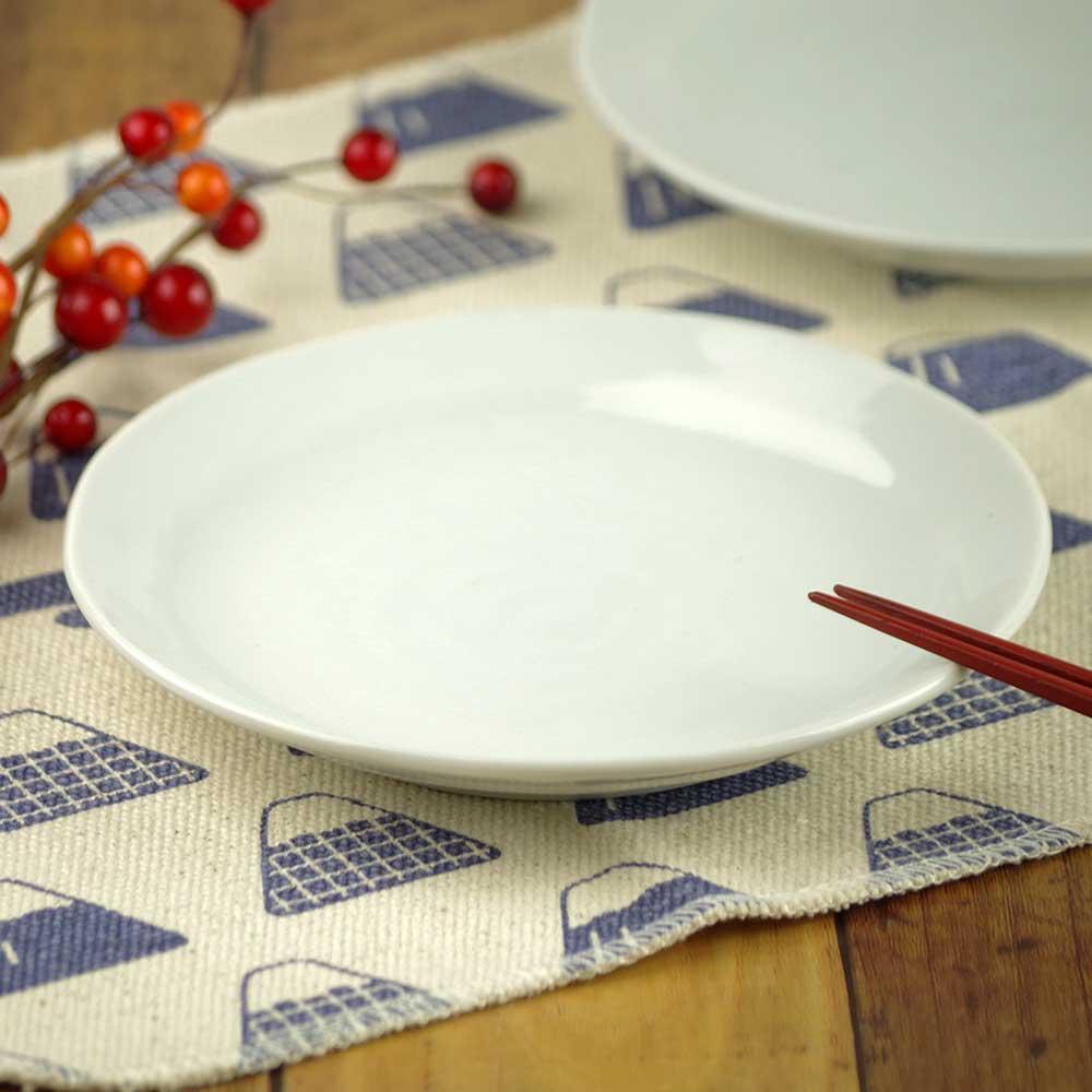 和皿 小皿 中皿 取り皿/ 16.4cm 白リム型5.0皿 /陶器 業務用 家庭用 居酒屋 ビュッフェ Japanese Plate