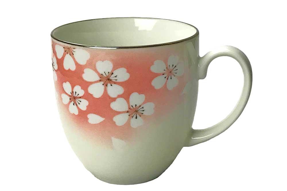 和風 マグ さくら 和心/ 撥水桃吹き桜マグカップ /業務用 家庭用