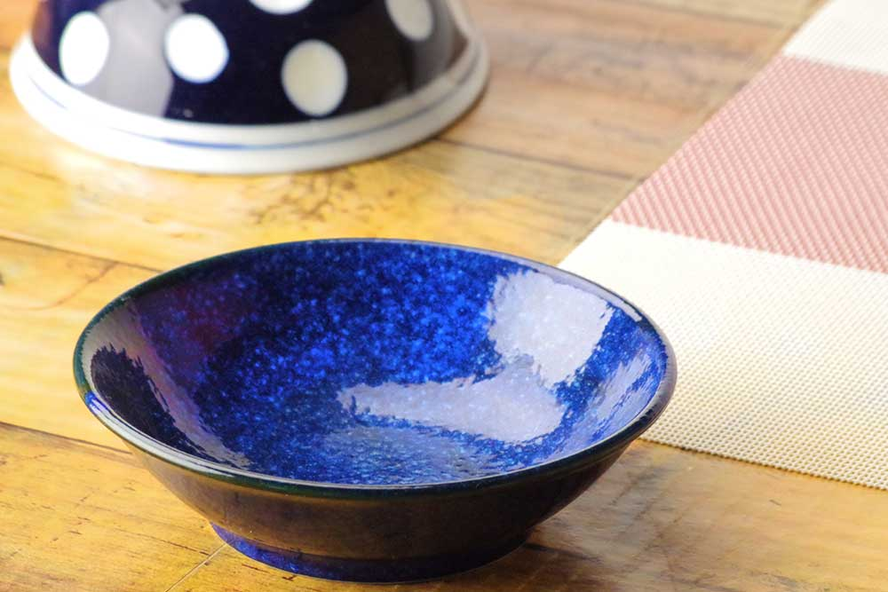 小鉢 浅鉢 取皿 鍋とんすい 窯変紺4.0浅小鉢