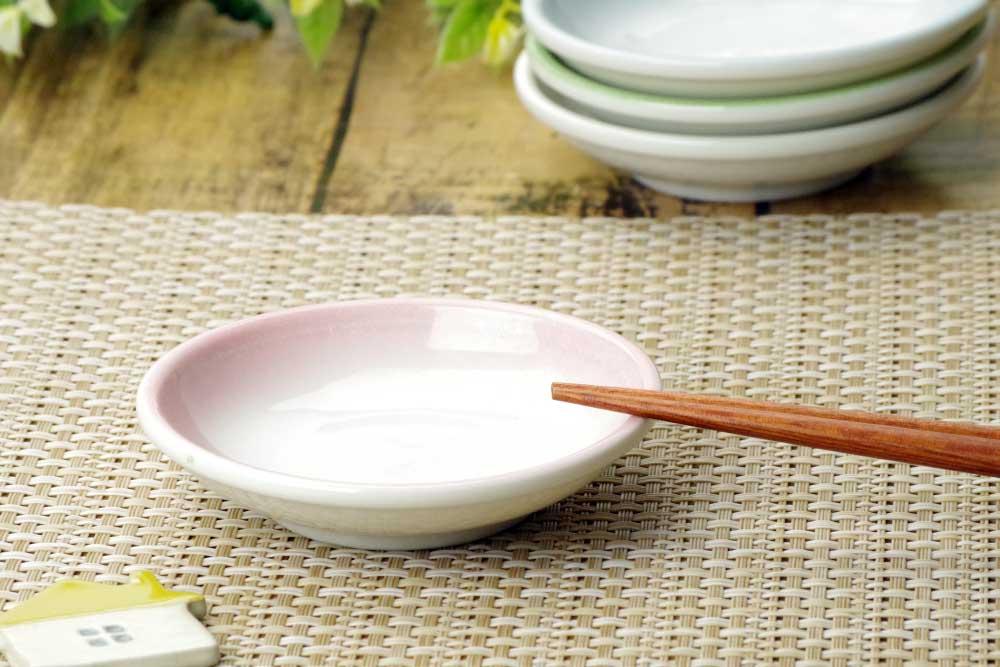 小皿 タレ皿 醤油皿/ 玉渕醤油小皿 ピンク /業務用 居酒屋 定食屋