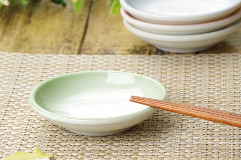 小皿 タレ皿 醤油皿/ 玉渕醤油小皿 グリーン /業務用 居酒屋 定食屋