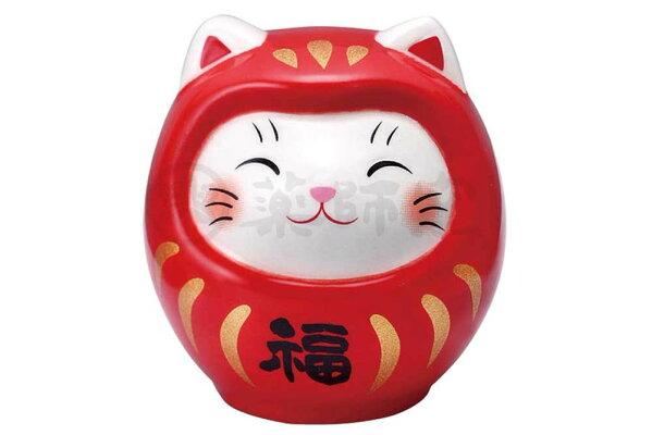 ダルマ置物おみくじネコ猫開運招福かわいい/彩絵おみくじ開運猫だるまディスプレイセット/kawaii縁起粗品贈り物