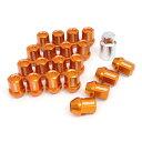 ジムニー タイヤ ジュラルミンロック&ナットセット L32 ストレートタイプ オレンジ/ブルー/レッド 5H用 M12×P1.25 DURA-NUTS レイズ RAYS