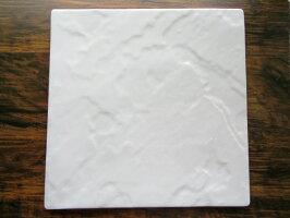 「盛れる器」 METEOR 27cm スクエアプレート  【 白い食器 白磁 正方形 フラット 角皿 美濃焼 大皿 陶磁器 石風  スレートボード  】