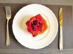 おしゃれなケーキ皿20.2cm【白い食器洋食器美濃焼パン皿ケーキプレートアウトレットポーセリンアートクリスマス】
