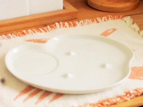 さくさく食パン皿 21.5cm【白い食器 美濃焼 べたつかない 変形 オシャレ トースト プレート】