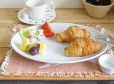 白い食器 オーバルプレート 31.5【美濃焼 大皿 オーバルプラター メタ皿 楕円 玉縁 丈夫 アウトレット 12インチ】