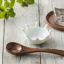【超エレガント】プチクラウンディッシュ アミューズ ドロップス 白い食器 かわいい おしゃれ 日本製 美濃焼 miyama 特白磁 ポーセリンアート 白い食器