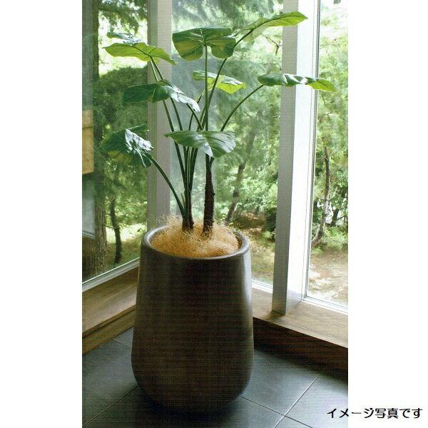 【人工観葉植物】アーティフィシャルグリーンアレンジクワズイモ 鉢付き 幅70cm rg-012 インテリア 造花