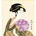 色紙絵 美人画【喜多川歌麿】団扇を持つおひさ 浮世絵 k3-002 歌麿【代引き不可】 1