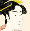 色紙絵 美人画【喜多川歌麿】団扇を持つおひさ 浮世絵 k3-002 歌麿【代引き不可】 2