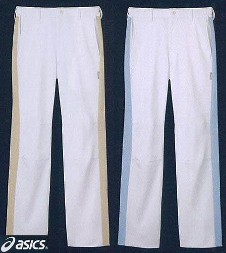 パンツ 男性用白衣 医療 白衣ドクター診察衣 メンズベージュ/ブルー