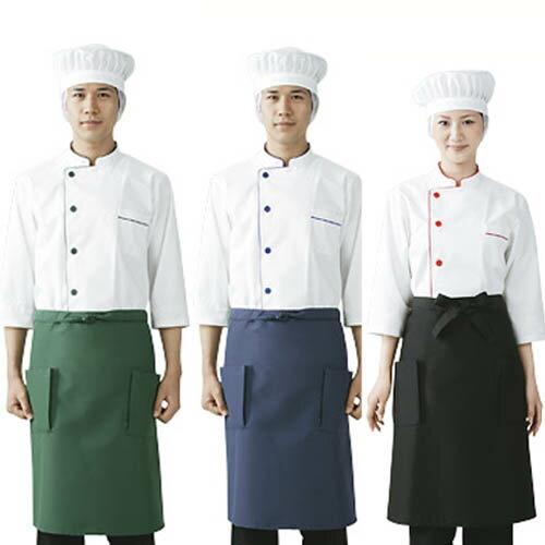 k-uni  라쿠텐 일본: 요리사 코트 흰색 7 부 소매 네트 부착 이물질 ...