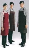 飲食店・サービスユニフォームカフェ・ベーカリー・レストランに最適!!接客用エプロン【ブラック】【ワイン】【ブラウン】