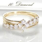 K18YG【0.50ct】アニバーサリーテンダイヤモンドリング