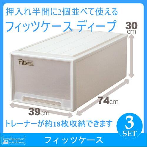 天馬 Fits フィッツケース ディープ カプチーノ(3個組)(収納ケース/衣装ケース/収納ボックス/TEN...