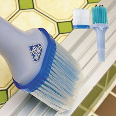 サッシの溝を掃除する掃除ブラシ