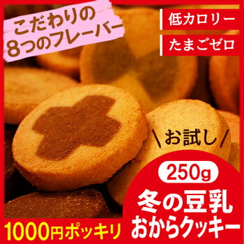 【メール便送料無料】【冬の豆乳おからクッキーお試し250g】豆乳おからクッキー訳ありおからクッキー訳ありダイエットわけあり品ダイエットクッキーわけあり置き換えダイエット低GI低カロリー1000円送料無料ポッキリ【325110-250】
