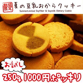 【メール便送料無料】【夏の豆乳おからクッキーお試し250g】豆乳おからクッキー訳ありおからクッキー訳ありダイエットわけあり品ダイエットクッキーわけあり置き換えダイエット低GI低カロリー1000円送料無料ポッキリ【325111-250】