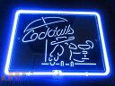 Cocktails カクテル 特大 3D ネオン看板 インテリア コレ...