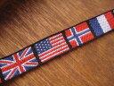 ワンコのリード作りにも大人気のチロリアンテープ、チロルテープちょっと訳あり!国旗柄のチロ...