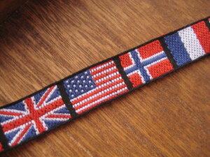 お一人様(1世帯、1配送につき)3メートルまで。ちょっと訳あり!国旗柄のチロリアンテープ、チ...