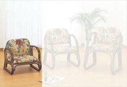 【送料無料】(籐思いやり座椅子ロータイプS-110B)ブラウン籐籐家具座椅子椅子イス和風リビングルーム籐(ラタン)製輸入品完成品【smtbーMS】