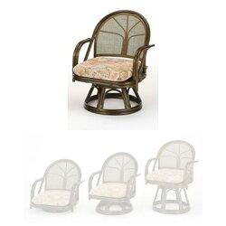 【送料無料】(回転座椅子ミドルハイタイプS-303B)ブラウン籐籐家具座椅子椅子イス回転式和風リビングルーム籐(ラタン)製輸入品完成品【smtbーMS】