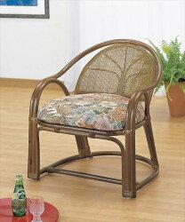 【送料無料】(アームチェアーハイタイプTK-110)ブラウン籐籐家具座椅子椅子イスアジアンリビングルーム籐(ラタン)製輸入品完成品【smtbーMS】